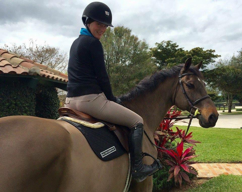 Taylor Ann Adams, Professional Show Jumper and Rider. Pictured in the Success Equestrian Deluxe Jumper/AP No-Slip Saddle Pad.